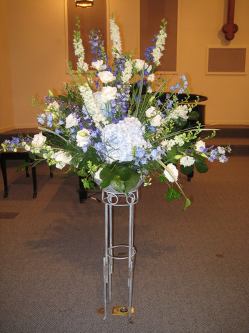 blue-white-church-stand
