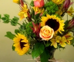 Sunflowers are always cheerful