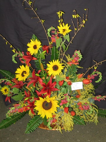Sunflower Basket for Life Celebration