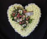 Floral Heart on Easel Stand